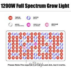1200W LED Grow Light Veg/Flower Growing Lamps For Indoor Plant Hydroponics Herbs