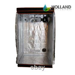 1.2m x 1.2m Hydroponics Grow Tent Kit 600w HPS Lights Extraction Timers Ducting