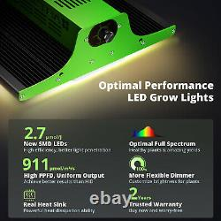 2PCS VIPARSPECTRA 600W LED Grow Light Full Spectrum for Indoor Plants UK Stock