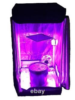 4 Site Hydroponic System Grow Room Complete Grow Tent Kit DWC LED Grow Light