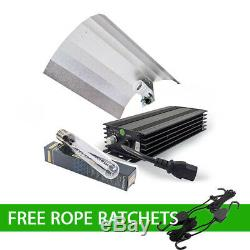 600W Digital Dimmable Ballast Bulb Reflector Light Kit With FREE Rope Ratchets
