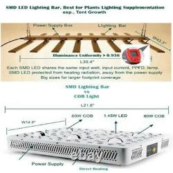 800W Spider Dimmable LED Grow Light 10bars Samsung 561B Quantum Board 660nm Lamp