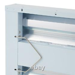 AgroBrite FLT48 8-Tube Hydroponic 2' Grow 432W Light Fixture with Bulbs, White