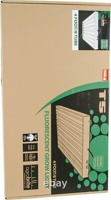 Agrobrite T5, 4 Foot, 8-Tube Fixture with Included Fluorescent Grow Lights