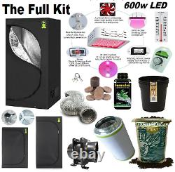 Complete 600w Led Grow Tent Kit Set Up + ALL SIZES indoors hydroponics herb room