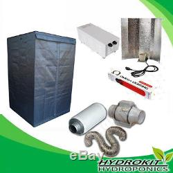 Complete Grow Tent 120 Room Hydroponics Grow Light Kit 600w Extractor Fan Kit