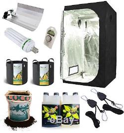 Complete Grow Tent Kit Grow Light Indoor Hydroponics set up system small 80 cm