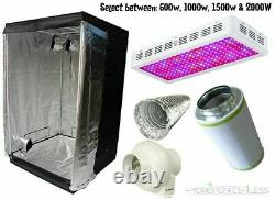 Complete Hydroponic Grow Room Tent Fan Filter Light Kit LED120x120x200