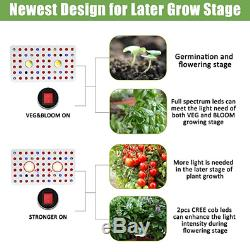 Cree COB LED Grow Lights 1000W withDimmable Veg /Bloom & Full Spectrum Hydro Lamps