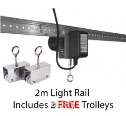 HYDROPONICS GROW LIGHT MOVER RAIL 2M For 600W HPS LIGHTS / LEDS GROWING ROOM