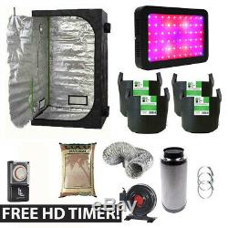 Hydroponics Complete Grow Tent Kit LED Grow Light Canna Coco + FREE TIMER