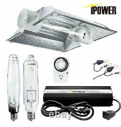 IPower 1000W HPS MH Digital Dimmable Grow Light System Kits Cool Tube Reflector