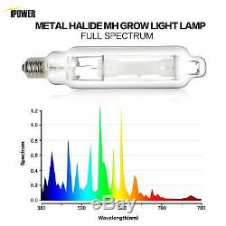 IPower 1000W HPS MH Grow Light System Kits Wing Reflector HoodSet w. Timer