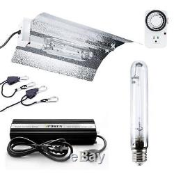 IPower 400W HPS Grow Light System Kits Wing Reflector Set with Timer