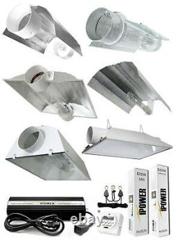 IPower 400/600/1000W HPS MH Grow Light System Kit Wing Cool Tube Hood Reflector