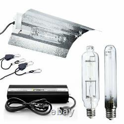 IPower 600W Grow Light System Wing Reflector Kit Air Cool Tube Hood Set
