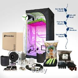 Indoor Plant Grow Kit 600-Watt LED + TENT Kit includes EVERYTHING you need