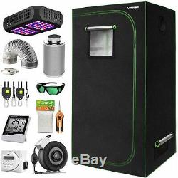 Indoor Plant Growing Tent Kit, Indoor Tent Complete Kit with Led Light Hygrometer