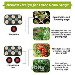 LED Grow Light Full Spectrum COB 300w 4 Indoor Plants Superior than Viparspectra