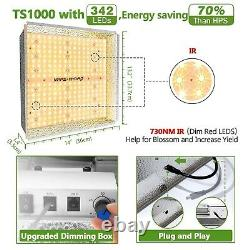 Mars Hydro TS 1000W LED Grow Lights for Indoor Plant Veg Flower Lamp Replace HPS