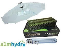 Omega 600W Digital Dimmable Ballast Parabolic Shade Grow Light Kit Hydroponics