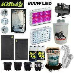 PR0 Complete 600w Led Grow Tent Kit Set Up + ALL SIZES indoors hydroponics Light