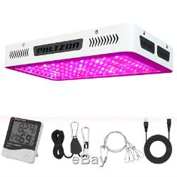 Phlizon Newest 1200W High Power Series Plant LED Grow Light, with Thermometer for