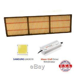 QUANTUM Grow Light 350w V3 Samsung LM301H 3.5k+660nm with Meanwell Driver