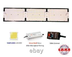 QUANTUM Grow Light 350w V3 Samsung LM301H+660nm with Meanwell HLG-320 Spider