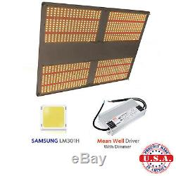 QUANTUM Grow Light 500w V3 Samsung LM301H 3.5k+660nm with Meanwell HLG-480 driver