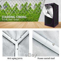 SF 90X90X180 Indoor Grow Tent Hydroponic Plant Reflective Aluminum Oxford Cloth