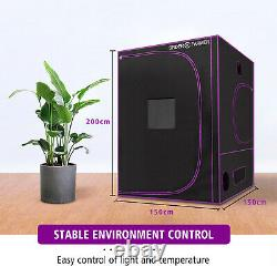 Spider Farmer 150X150X200CM Indoor Grow Tent Reflective Plants Room 600D Oxford