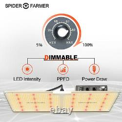 Spider Farmer 2000W LED Grow Light+60x120CM Grow Tent Kits Carbon Filter Outfit