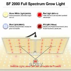 Spider Farmer 2000W LED Grow Light+90x90cm Indoor Grow Tent For Hydroponic Plant
