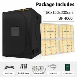 Spider Farmer 4000W LED Grow Light+150x150CM Indoor Grow Tent For Veg And Flower