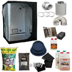 Ultimate 600w Complete Grow Kit For Hydroponics Indoor Tent Light Fan 120x120