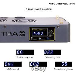 VIPARSPECTRA Timer Control Series TC450 450W LED Grow Light for Plant Veg /BLOOM